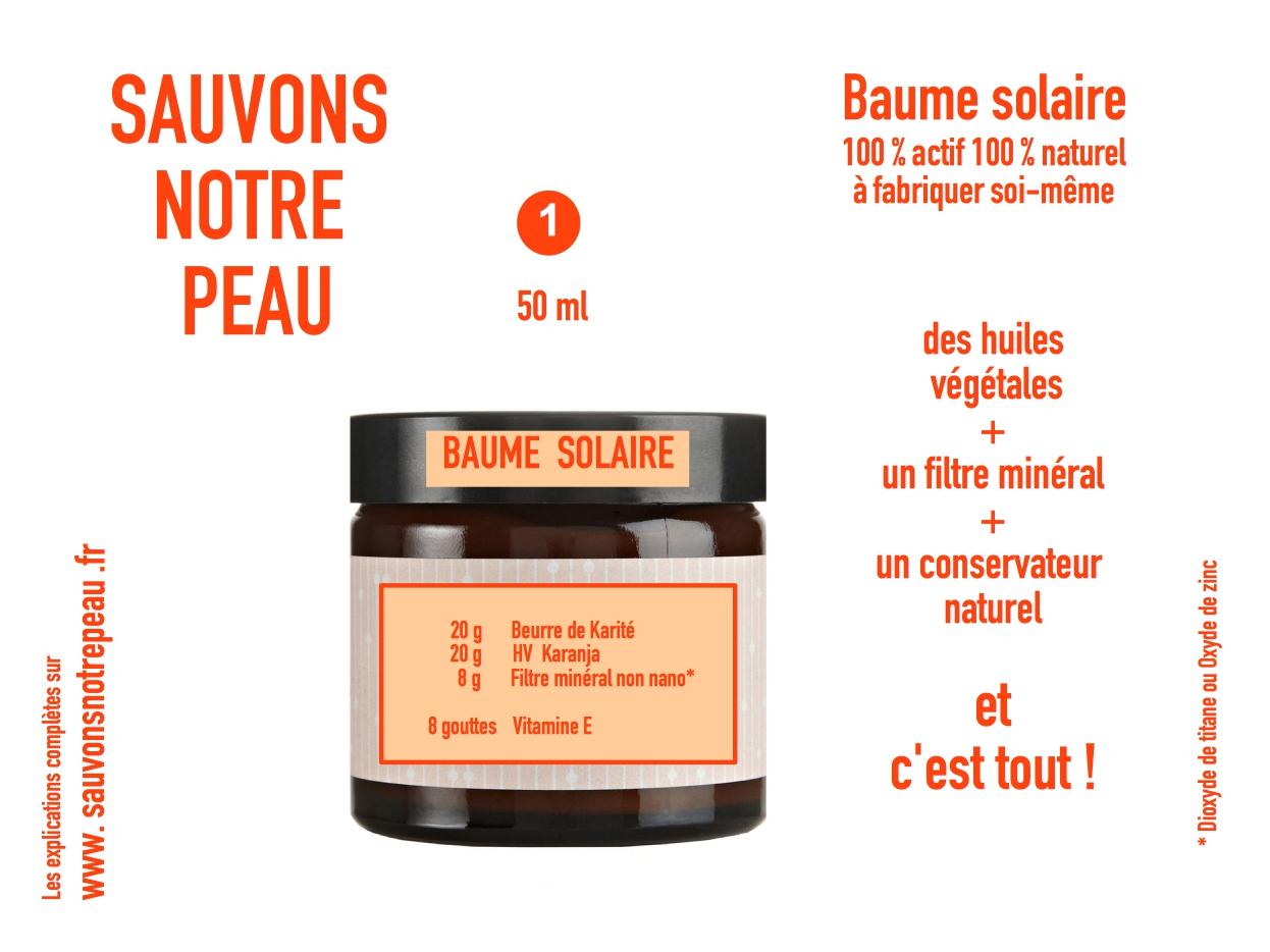 Recette du baume solaire du blog Sauvons Notre Peau